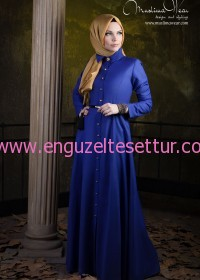 Bouquet Dress in Indigo Blue Code 14005 Fall Winter 2013-14