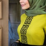 Dessen Dress by Muslima Wear Lime Color Code 14015 New Collection 2014
