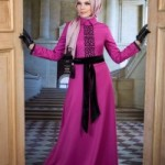 Dessen Dress by Muslima Wear in Fuchsia Color Code 14017 New Collection 2014