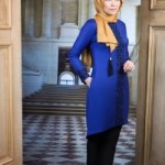 Dessen Tunique by Muslima Wear in Indigo Blue Color Code 14081 New Collection 2014