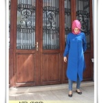 haute couture sax blue muslima wear